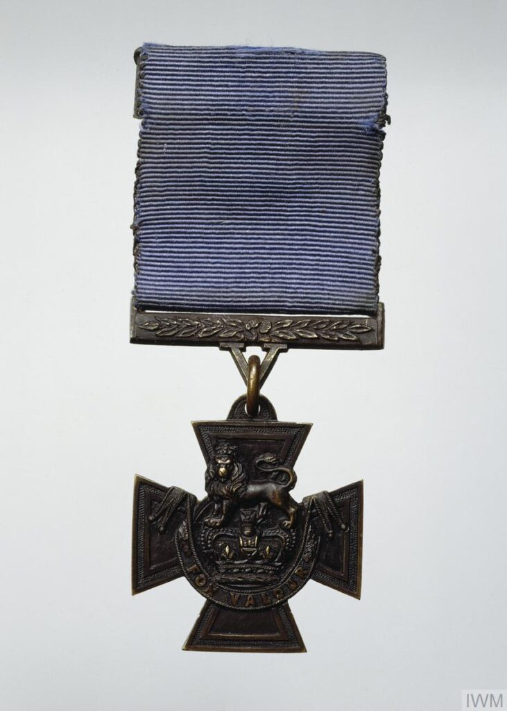 Jack Cornwell's Victoria Cross Naval Victoria Cross with blue medal ribbon